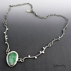 https://flic.kr/p/dW7SGD | P1100953 | Sterling silver necklace with turquoise cabochon