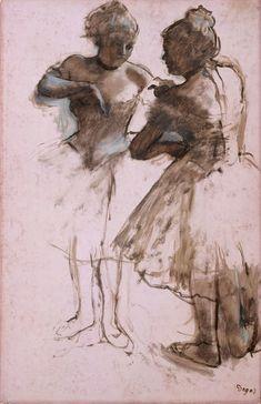 Photo Mug-Two Dancers, Creator: Edgar Degas-Photo Mug made in Australia Degas Drawings, Degas Paintings, Dancing Drawings, Edgar Degas, Degas Ballerina, Realistic Rose, Realistic Drawings, Ballerine Degas, Degas Dancers