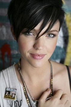 - short dark hair style-cute!