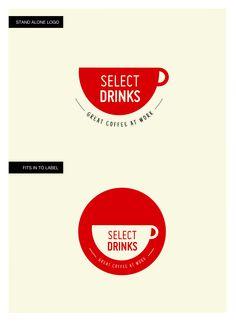 Select Drinks Logo Design | #logo #design | www.rubbercheese.com