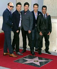 New Kids On The Block Hollywood Walk Of Fame Star