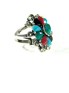 Holiday Gift Idea Floral Silver Tone Antique Fashion Cocktail Womens Ring Mogul Interior http://www.amazon.com/dp/B00Q9VFCVG/ref=cm_sw_r_pi_dp_jhfEub0N8HVP8
