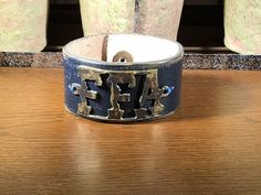 FFA Navy Leather Cuff