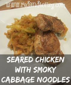 Seared chicken with