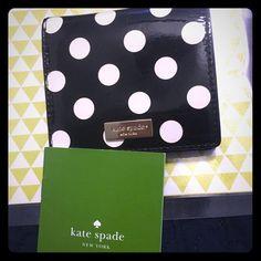 Kate spade wallet NWOT Kate spade cute black and white wallet. kate spade Bags Wallets