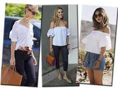 Combine a blusa mais larga com peças sequinhas na parte de baixo para garantir um equilíbrio de volumes na produção (Foto: Reprodução / Instagram, Style du Monde, Getty Images e Song of Style)
