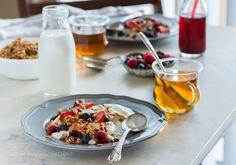Breakfast with yogurt and granola
