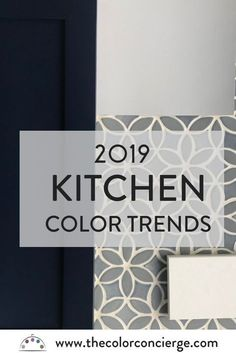 For 2019 kitchen colors, we predict continued focus on white kitchens with jewel. 2019 Kitchen Trends, Kitchen Color Trends, Kitchen Paint Colors, Painting Kitchen Cabinets, Kitchen Cupboards, Kitchens With Painted Cabinets, Kitchen Counters, Kitchen Pantry, Kitchen Backsplash