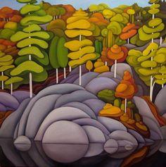 Algonquin Shores by Oil on Canvas by Deb Gibson Canada Landscape, Landscape Art, Landscape Paintings, Landscapes, Canadian Painters, Canadian Artists, Street Art, Illustration, Abstract Art