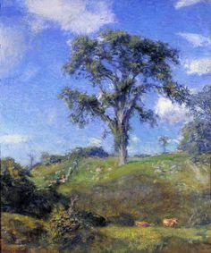 """Blithe June,"" Charles Harold Davis, ca. 1921, oil on canvas, 30 x 25"", Garzoli Gallery."