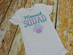 Mermaid Squad, Mermaid Bodysuit, Mermaid Outfit, Mermaid Baby by…