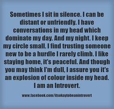 I'm an Introvert.