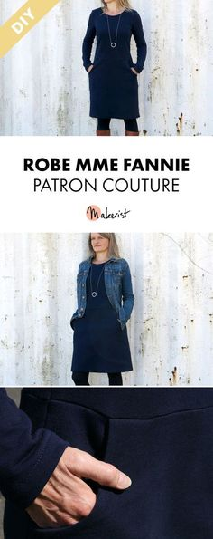 Madame Fannie versatile dress - tutorial and pattern - Dress 01 Coin Couture, Couture Sewing, Denim Button Up, Button Up Shirts, Sewing Online, Diy Vetement, Couture Outfits, Dress Tutorials, Dress Sewing Patterns