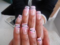 Gel Tips with painted art! by NailsbyAnita - Nail Art Gallery nailartgallery.nailsmag.com by Nails Magazine www.nailsmag.com #nailart