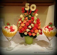 Fruit display, fruit tree, fruit kebab