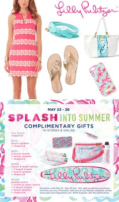 Splash into Summer with these complimentary gifts from @Lilly Pulitzer  - ends 5/26. Click through for details!