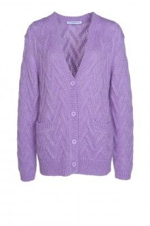 SIS by Spijkers en Spijkers MOHAIR CARDIGAN (LILAC) 250 EURO http://spijkersenspijkers.nl/shop/clothing/mohair-cardigan-lilac.html #mohair #cardigan #lilac #knit #wool #fashion #style #mode #inspiration #spring #summer