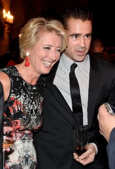 Emma Thompson and Colin Farrell at event of Saving Mr. Banks
