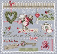 A través de Madeleine Rice I love this French cross stitch, can't wait to make it.