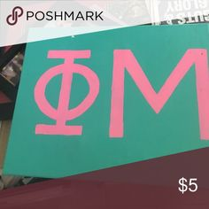 Phi mu canvas Hand painted canvas phi mu sorority letters Other