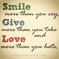 #smile #cry #give #take #love #hate #smm #social #quotes