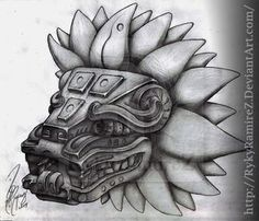 Pectoral piece, Feathered Serpent sculpture at Teotihuacan (Mesoamerica) Rn Tattoo, Arrow Tattoo, Clown Tattoo, Scary Tattoos, Samoan Tattoo, Tattoo Ink, Mayan Tattoos, Mexican Art Tattoos, Indian Tattoos