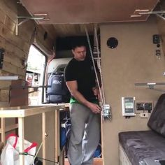 Are you dreaming about a sweet little campervan with your own built in bed? Here's the idea from Justin Hammer Sysum. via: Are you dreaming about a sweet little campervan with your own built in bed? Here's the idea from Justin Hammer Sysum. Auto Camping, Petit Camping Car, Van Camping, Camping Hacks, Camper Beds, Car Camper, Camper Trailers, Campervan Bed, Campervan Interior