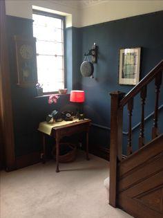 Hague blue walls in hallway.
