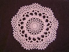 Doily: Crochet a little If I don't use the outside edging, this would make a nice dress fabric