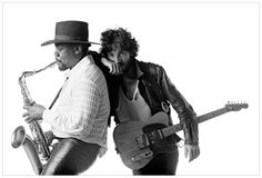 Bruce Springsteen: 1949 Clarence Clemons: 1942 - 2011  Picture by Eric Meola  (c) 1975 Eric Meola