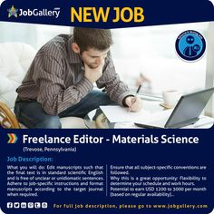 Seeking A Freelance Editor  Biochemistry Genetics And Molecular