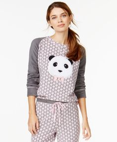 Jenni by Jennifer Moore Panda Fleece Top