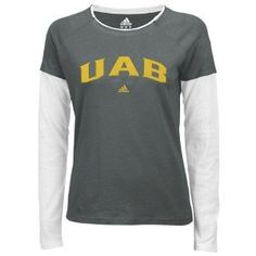 adidas UAB Blazers Ladies Gray Fontology Double Layer Long Sleeve T-shirt (Large) University Of Alabama, Mississippi State, Lady Grey, Adidas, Blazers For Women, Birmingham, Long Sleeve, Mens Tops, T Shirt