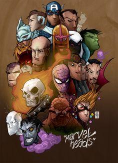 Marvel Team Up Illustration