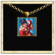 Vintage Football  Handmade pendant bezel with glass by IttyBaubles, $13.95