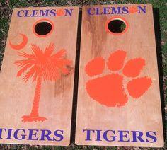 Clemson Tigers Cornhole Set of 6 Vinyl Decals