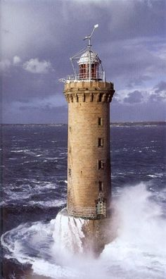 Kereon Lighthouse Brittany France http://www.stopsleepgo.com/vacation-rentals/brittany/france