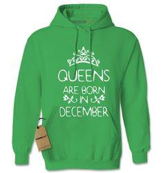 Queens Are Born In December Adult Hoodie Sweatshirt