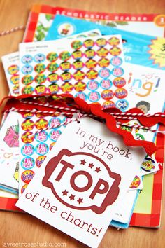 In My Book, You're Top of the Charts Teacher Appreciation Gift Idea with *Free* Printable Tags!