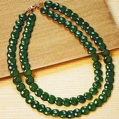 Double Graduated Jade Necklace