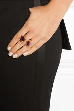 Oscar de la Renta | Gold-plated crystal ring | NET-A-PORTER.COM