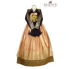 Korean Traditional Dress, Traditional Dresses, Modern Hanbok, Fashion Sewing, Dress Brands, Kdrama, Peplum Dress, Hairstyle, Asian