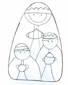 pesebre r Christmas Rock, A Christmas Story, Rustic Christmas, Kids Christmas, Felt Christmas Decorations, Diy Christmas Ornaments, Felted Wool Crafts, Felt Crafts, Felt Ornaments Patterns