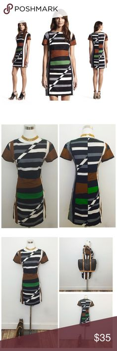 "Derek Lam • NWOT Stripe Color Block Sheath Dress Limited edition and sold out design by Derek Lam x DesigNation.  A classic sheath dress like this is a wardrobe staple and will be the ""workhorse"" in your closet that can be used for many occasions.  It's striped and color blocking print makes for a unique and body-flattering design.  * Condition: new without tag * Zipper: invisible back zip * Material: 55% linen, 45% cotton  Measurements:   Bust 