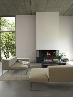 Minimalista #Chimeneas #Fireplace #decor #living #salón