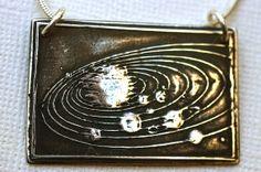 Solar System Pendant by Lorinda3LJewelry on Etsy, $80.00