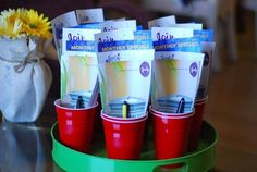 Red Solo Cup, the Scentsy Party Version! Great idea for a guys party so they can Christmas shop for their women... and drink. lol