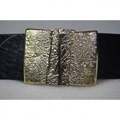 Abstract Rectangle Folds Belt Handmade from Cellar Leather