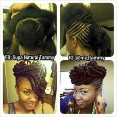 Two Strand Twist Pin Up - Mz Tammy on IG - Loooooove This!!