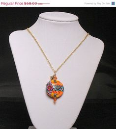 CLEARANCE Think Spring  Flower Pendant Necklace  by SunsetJewelsCo